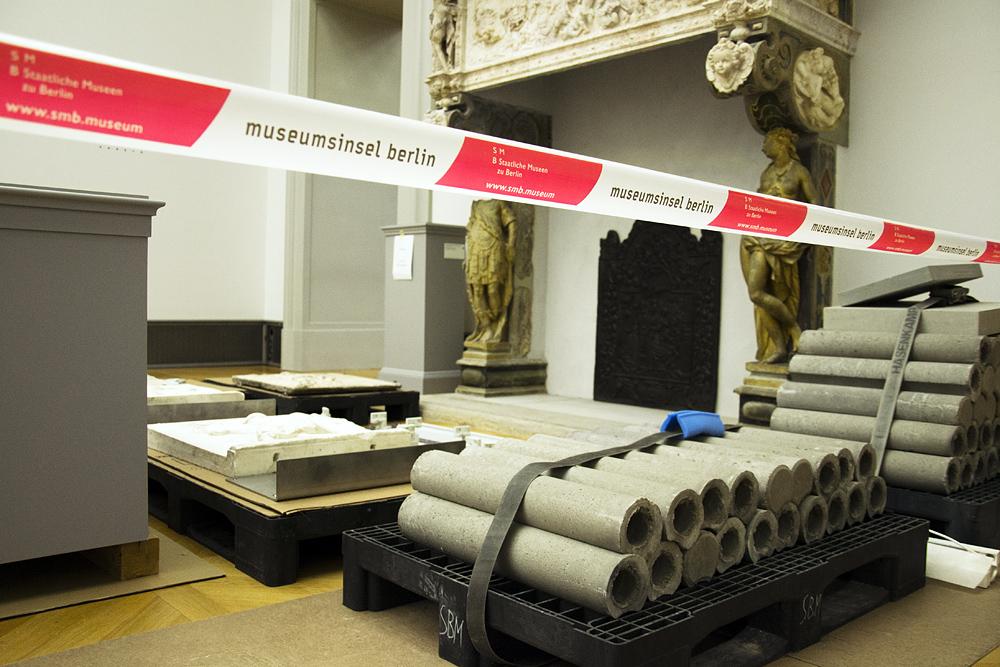 Bodemuseum, Berlin, Ausstellungsabbau