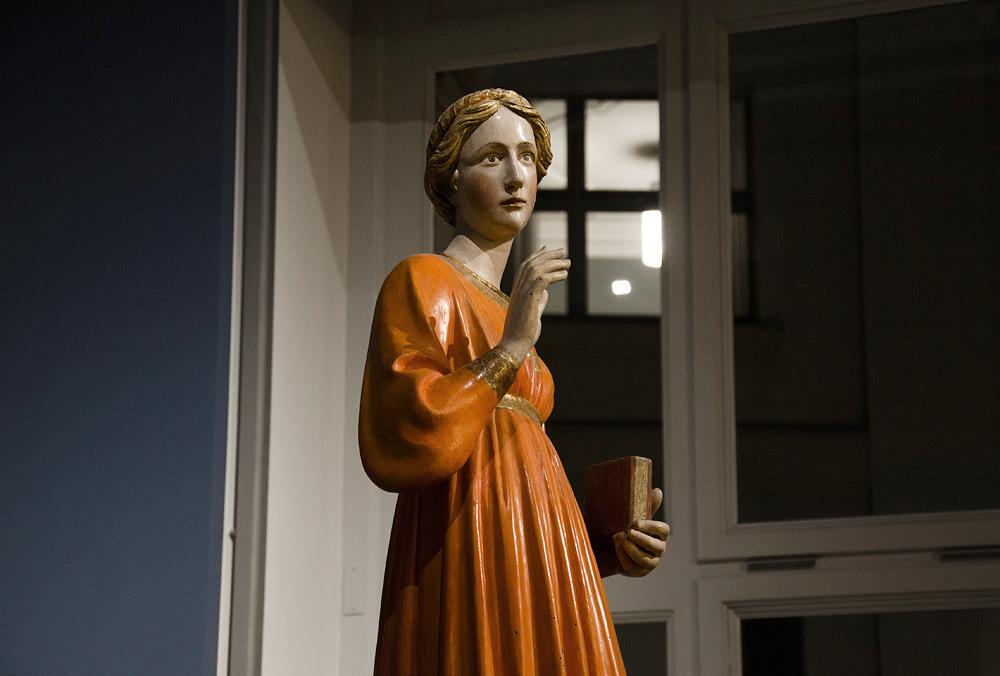 Bodemuseum, Berlin, Francesco di Valdambrino, Maria aus einer Verkündigungsgruppe