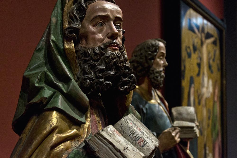 Hessisches Landesmuseum Darmstadt, Oberrhein, Hl. Paul und Hl. Petrus