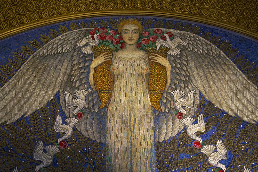Mathildenhöhe, Künstlerkolonie Darmstadt, Hochzeitsturm, Mosaik
