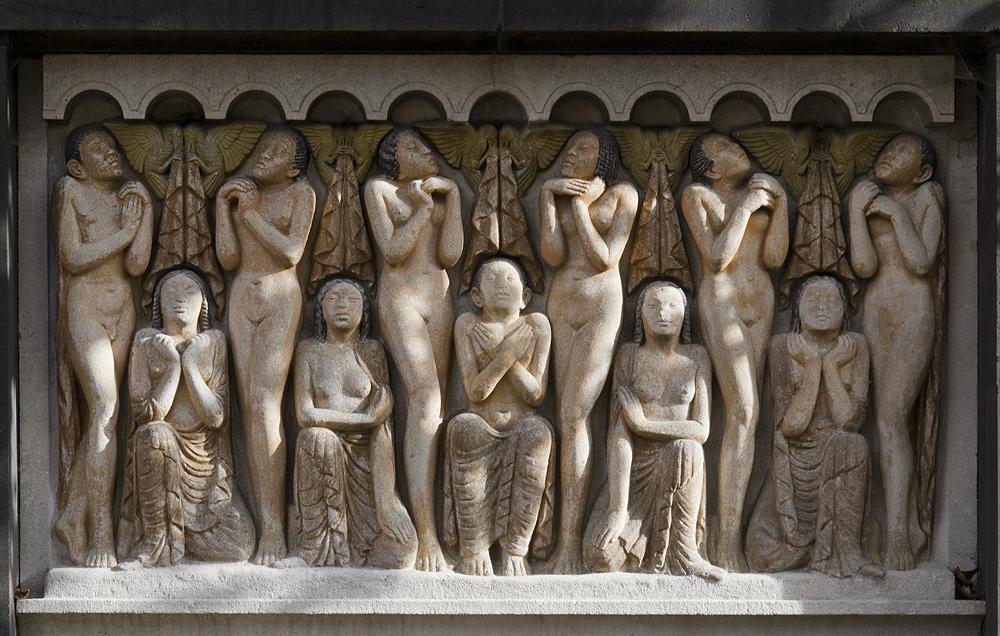 Mathildenhöhe, Künstlerkolonie Darmstadt, Relief Auferstehung von Bernhard Hoetger