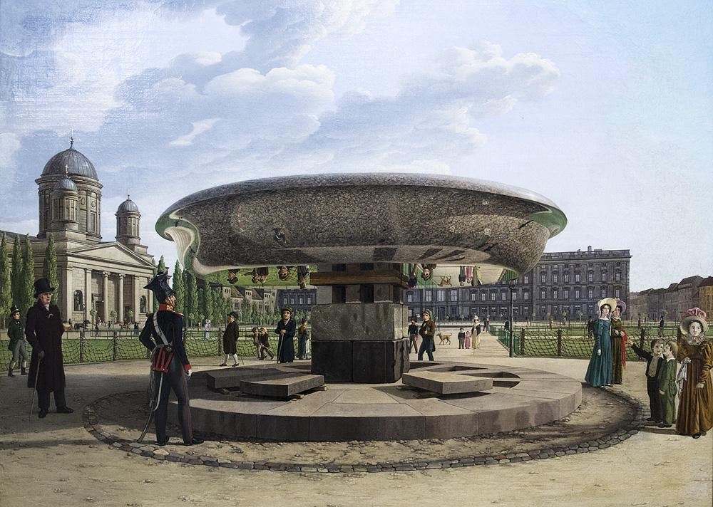 Alte Nationalgalerie, Johann Erdmann Hummel, Die Granitschale im Berliner Lustgarten