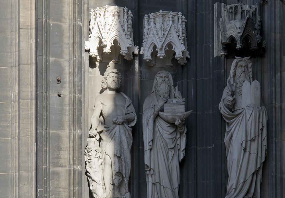 Kölner Dom, Figuren am Westportal