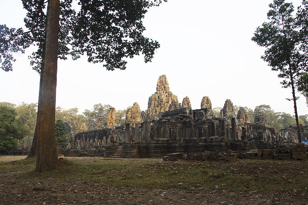 Angkor, Bayon am Morgen