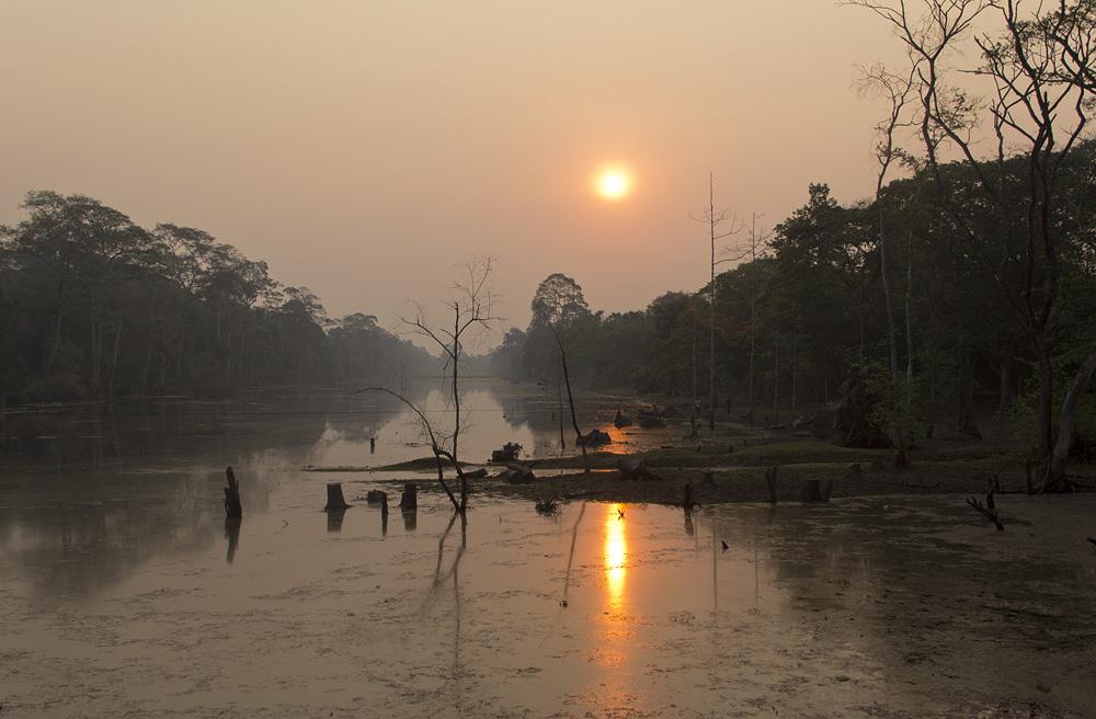 Angkor Thom, Wassergraben