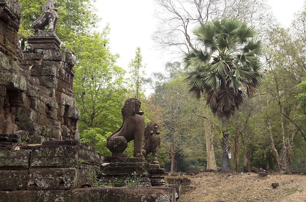 Angkor Thom, Phimenakas, Löwen