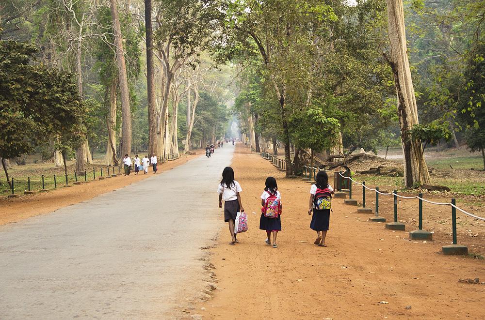 Angkor, Bayon, Straße