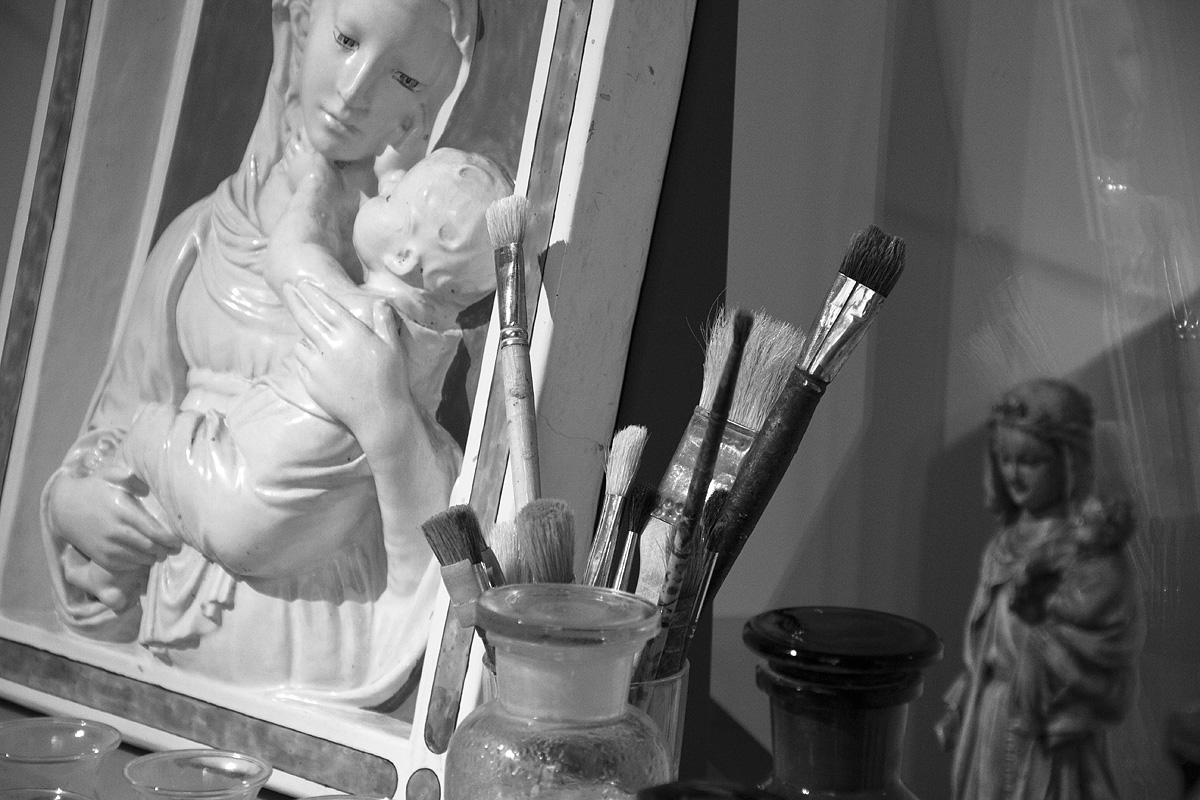 Bode-Museum, Ausstellung Das verschwundene Museum, Luca dell Robbia, Madonna (Reproduktion der Gipsformerei)