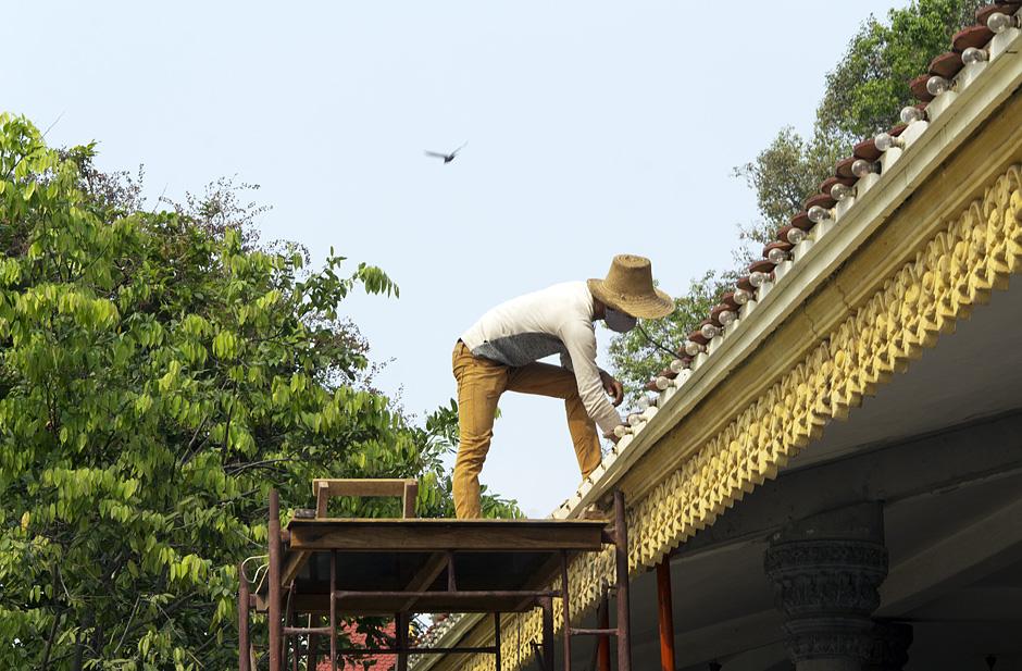 Phnom Penh, Hof der Silberpagode