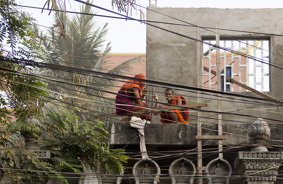 Phnom Penh, Norodom Blvd, Mönche