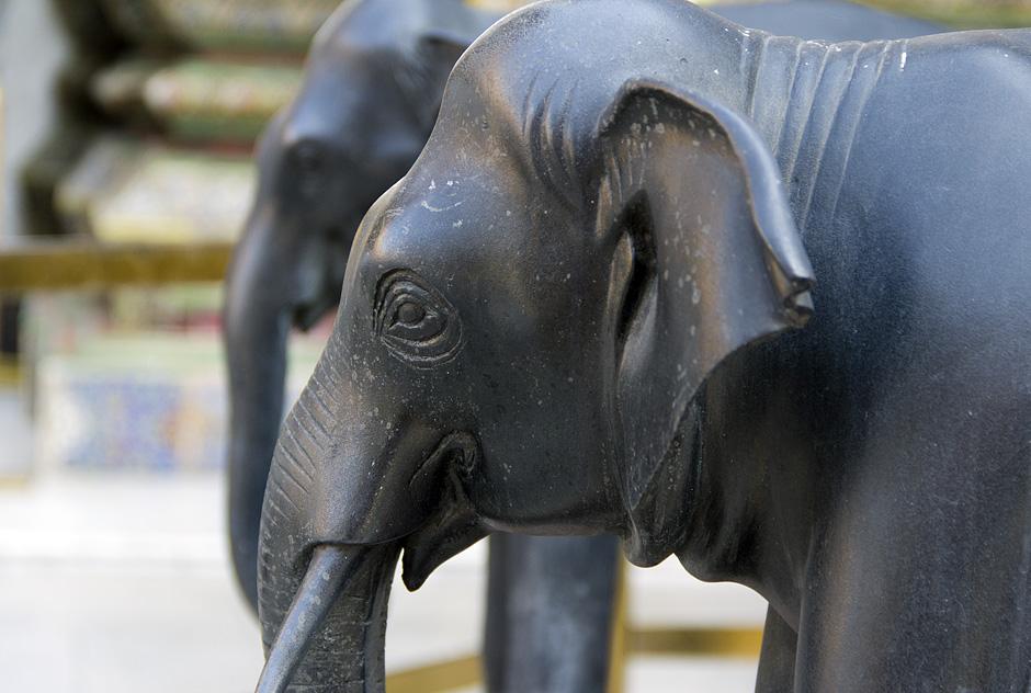 Bangkok, Grand Palace, Elefanten