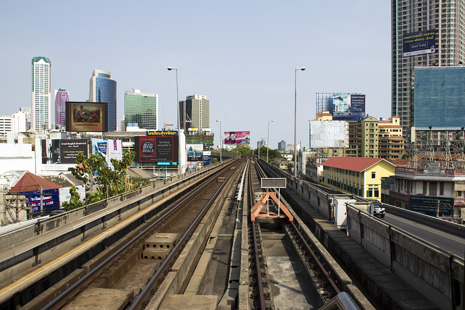 Skytrain-Station Silom, Bangkok