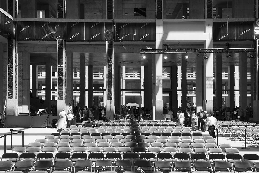 Berliner Schloss - Humboldt-Forum, Richtfest, Rohbau, Eingangshalle