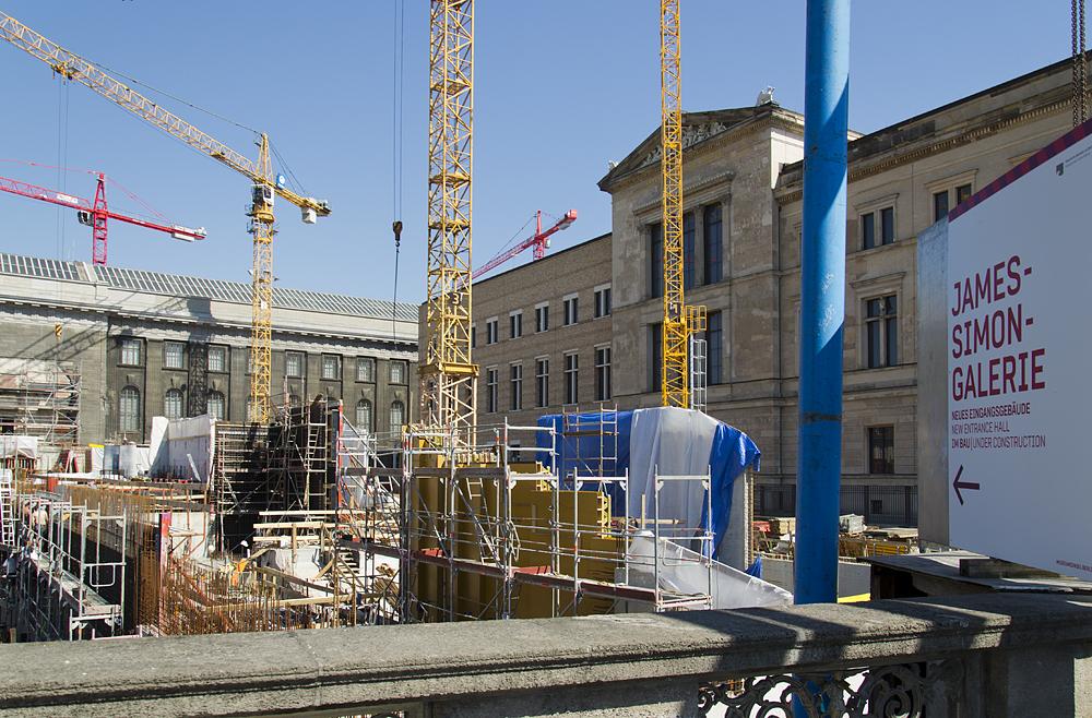 Museumsinsel Berlin, Baustelle der James-Simon-Galerie