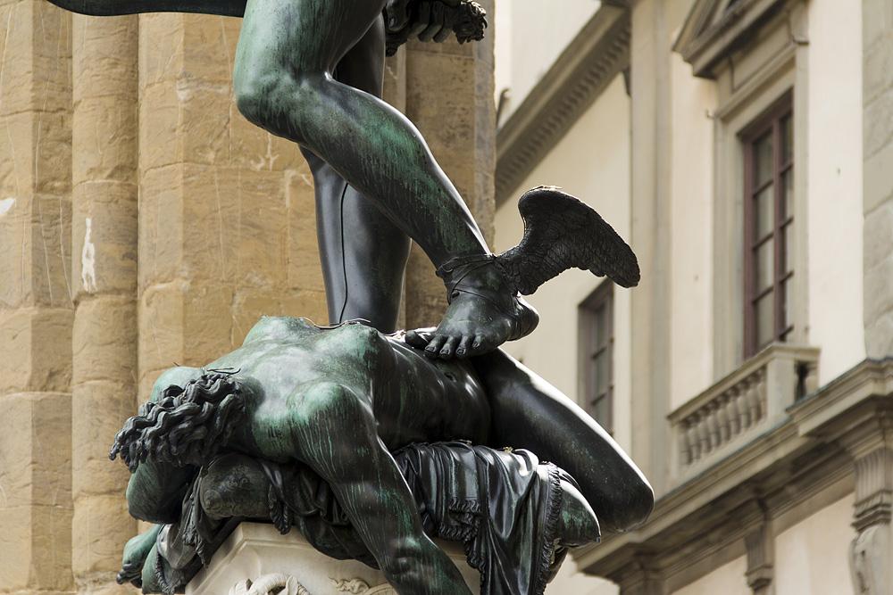 Fabian Fröhlich, Florenz, Loggia dei Lanzi, Benvenuto Cellini, Perseus und Medusa