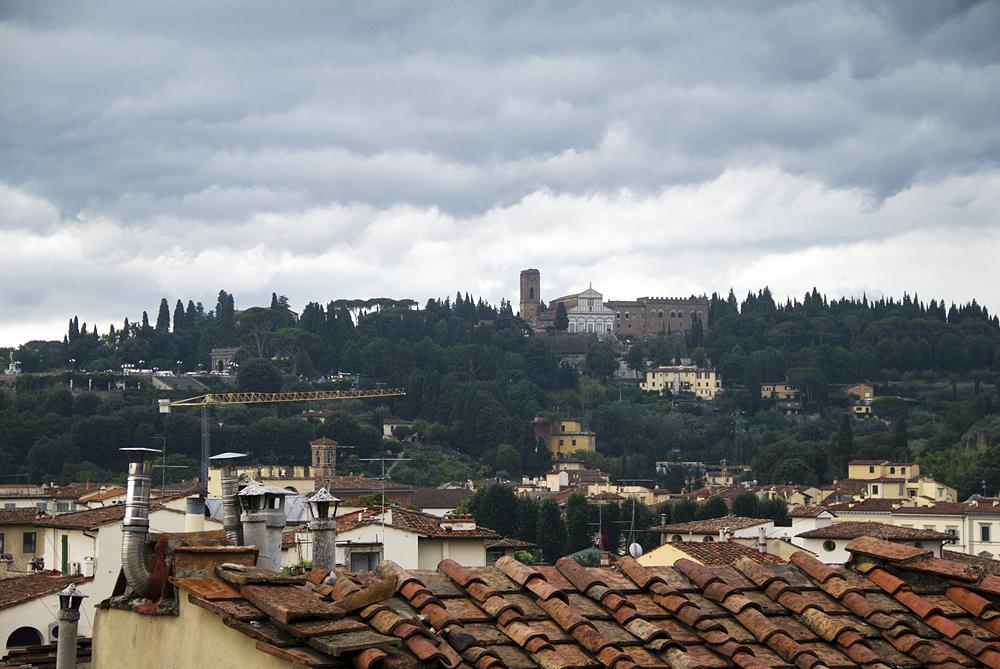 Blick vom Palazzo Vecchio zu San Miniato al Monte