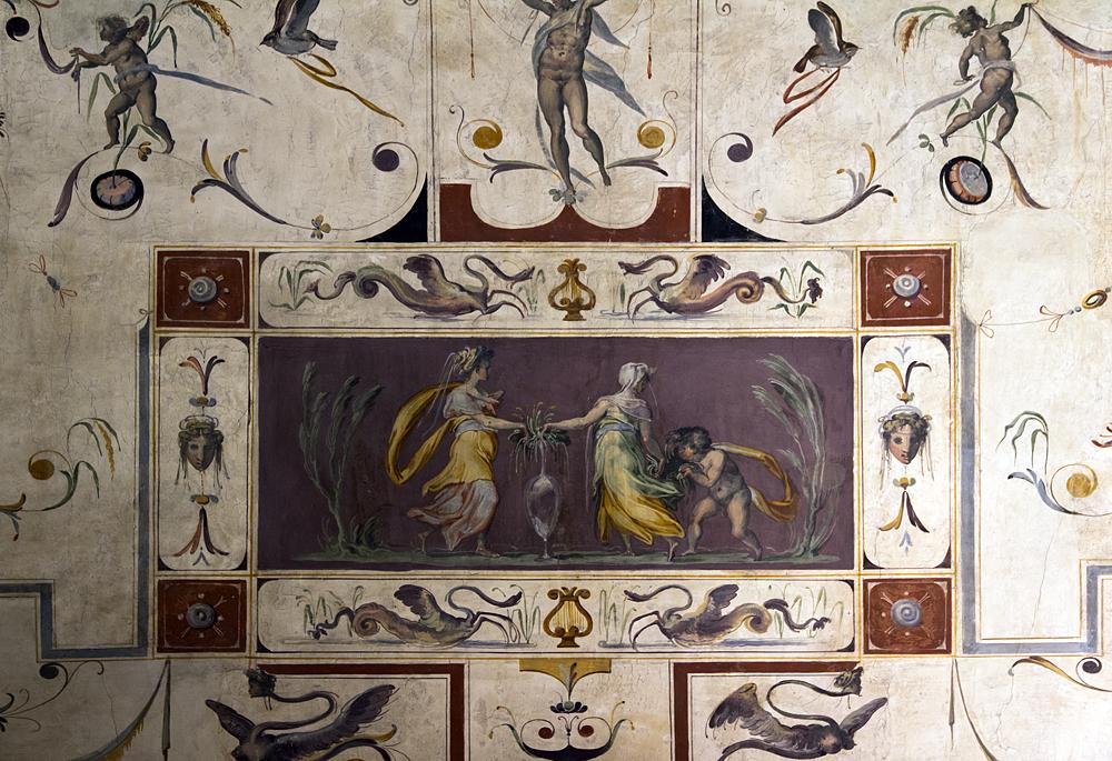 Florenz, Palazzo Vecchio, Grotesken in der Sala di Lorenzo il Magnifico