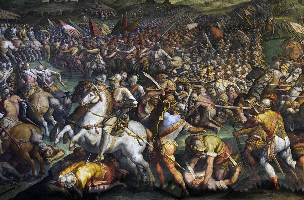 Palazzo Vecchio, Sieg bei Marcinano von Giorgio Vasari im Salone dei Cinquecento