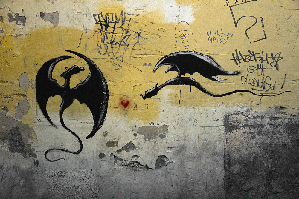 Street Art, Firenze, Borgo La Nocce, Dragons