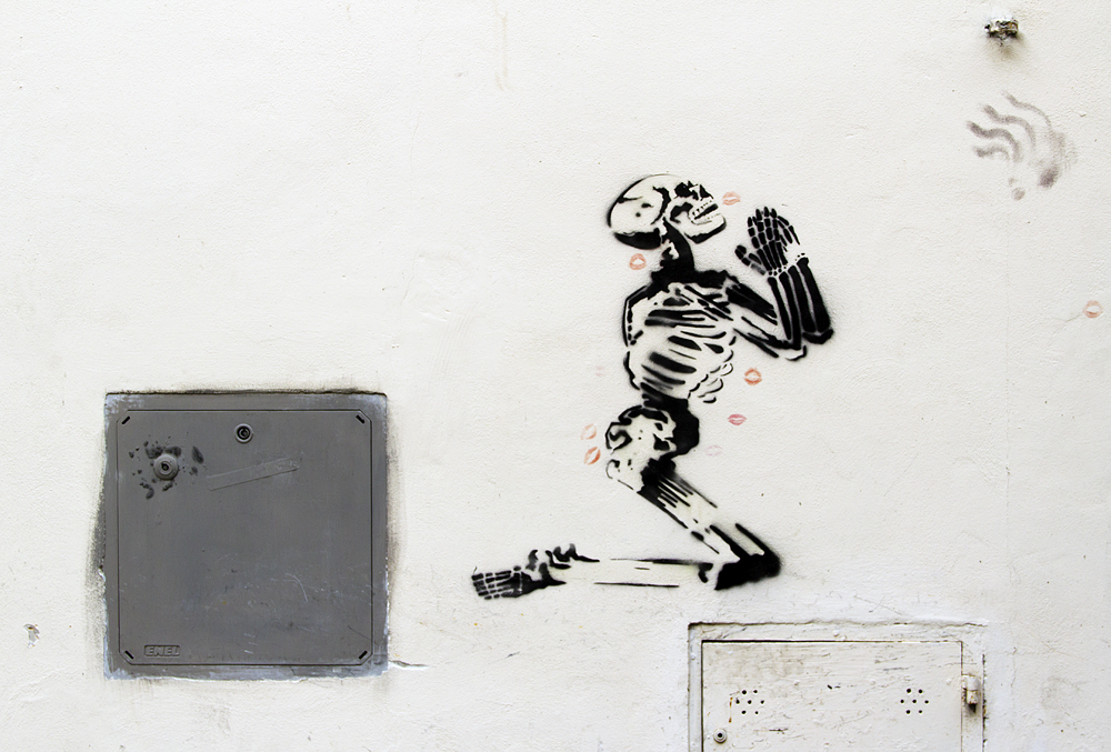 Street Art, Firenze, Skeletton