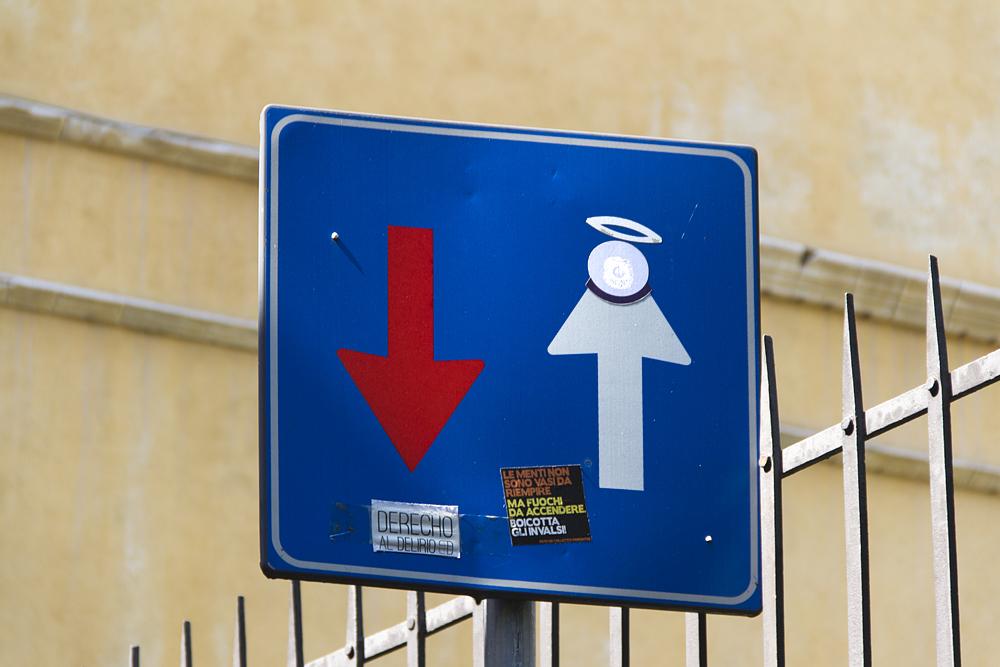 Street Art, Firenze, Via della Colonna, Clet
