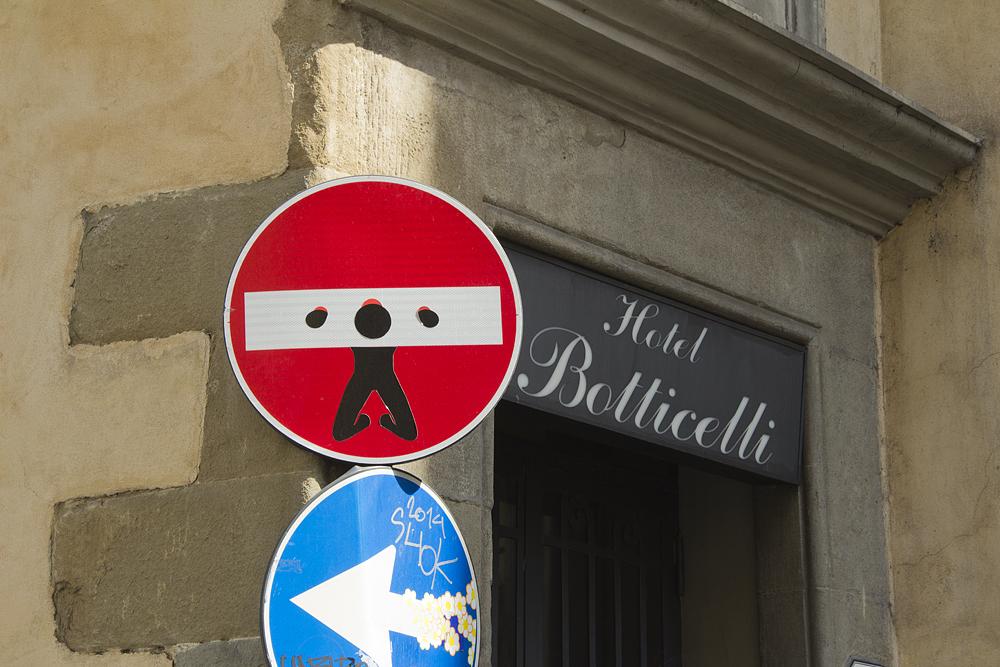 Street Art, Firenze, Via Taddea, Clet