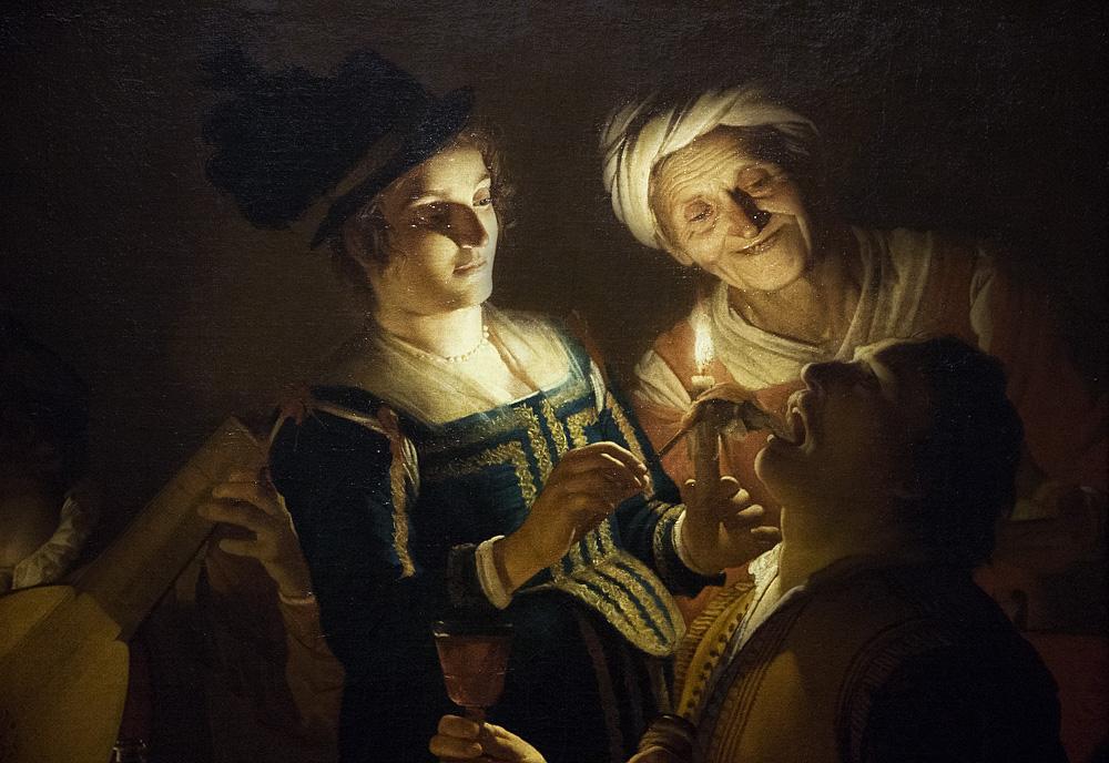 Uffizien, Gerrit van Honthorst, Abendessen mit Lautenspieler
