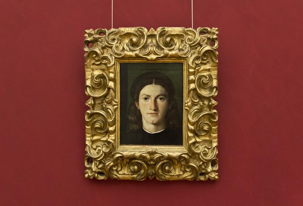 Uffizien, Lorenzo Lotto, Porträt eines jungen Mannes