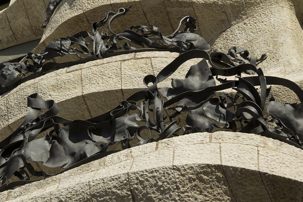 Barcelona, Casa Milà, La Pedrera, Antoni Gaudí, Balkongitter von Josep Maria Jujol