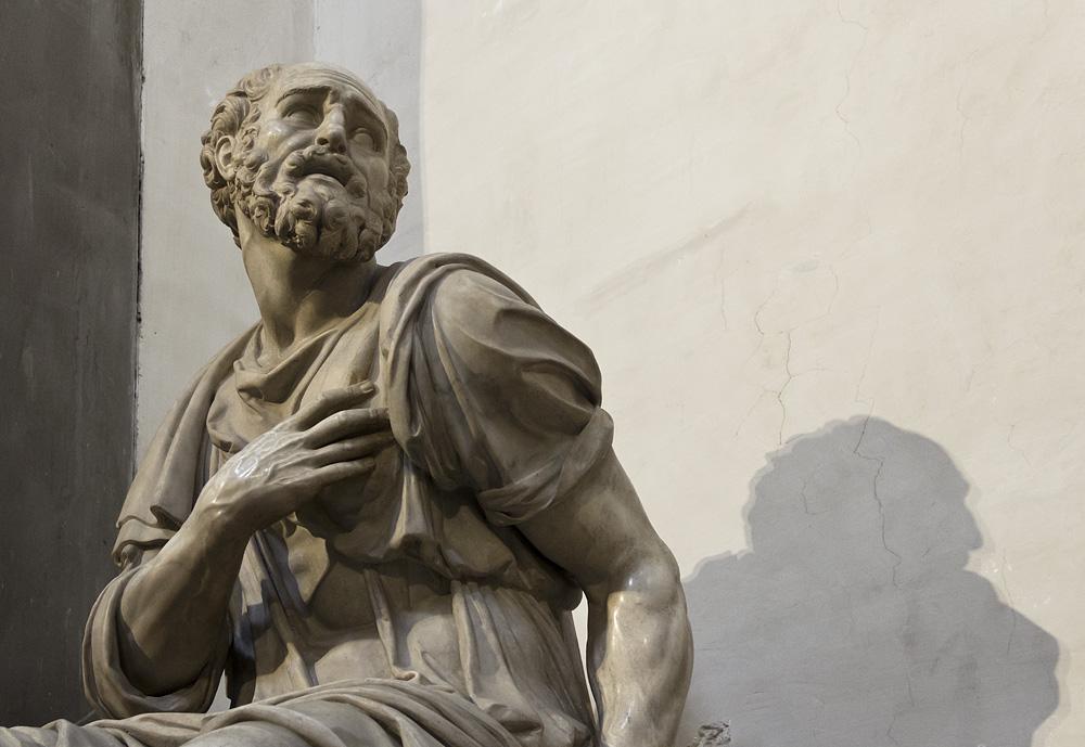 Florenz, Hl.Cosmas von Giovanni Angelo Montorsoli in der Neuen Sakristei