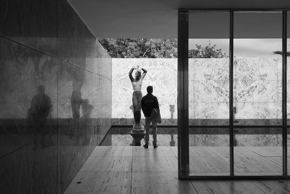 Barcelona, Georg Kolbe, Skulptur Der Morgen, Pavillon von Mies van der Rohe zur Weltausstellung 1929