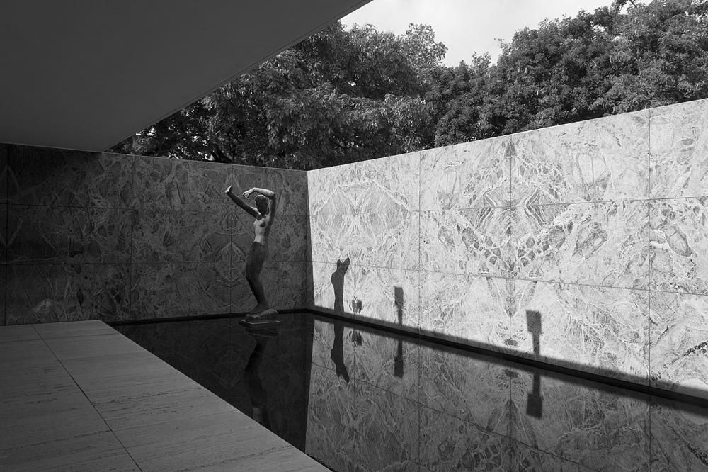 Barcelona, Georg Kolbe, Wasserbecken, Skulptur Der Morgen, Pavillon von Mies van der Rohe zur Weltausstellung 1929
