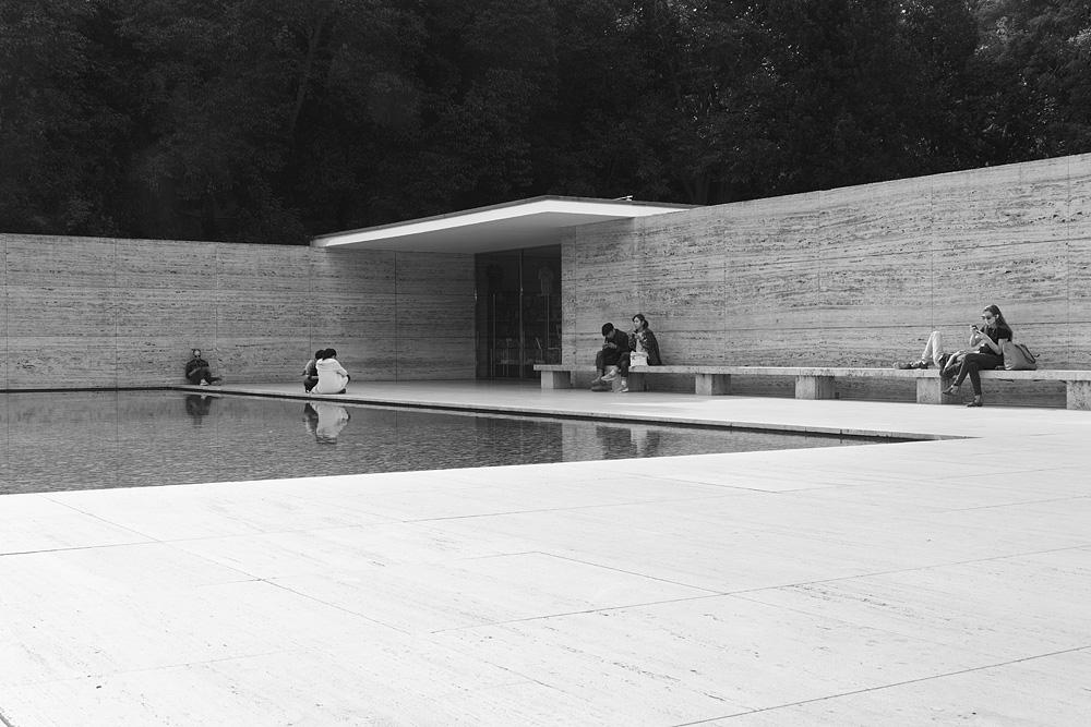 Barcelona, Rekonstruktion des Deutschen Pavillons von Mies van der Rohe zur Weltausstellung 1929