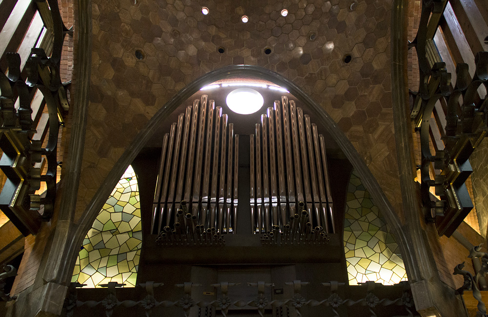 Barcelona, Palau Güell, Antoni Gaudi, Orgel