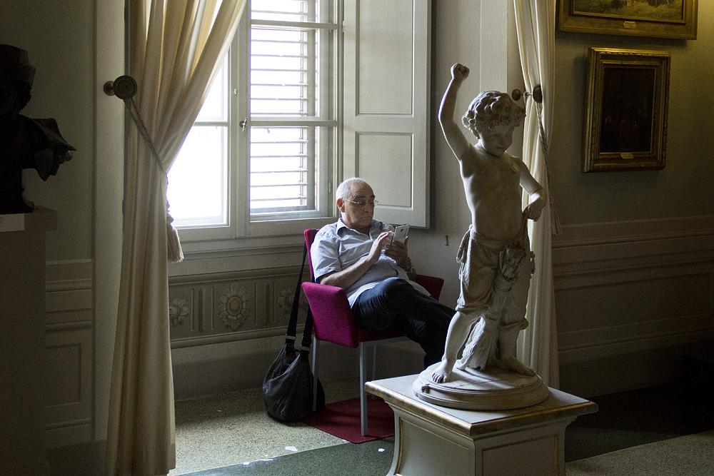 Palazzo Pitti, Galeria d'Arte Moderna, fanciullo a cavallo di una scopa, Francesco Barzaghi