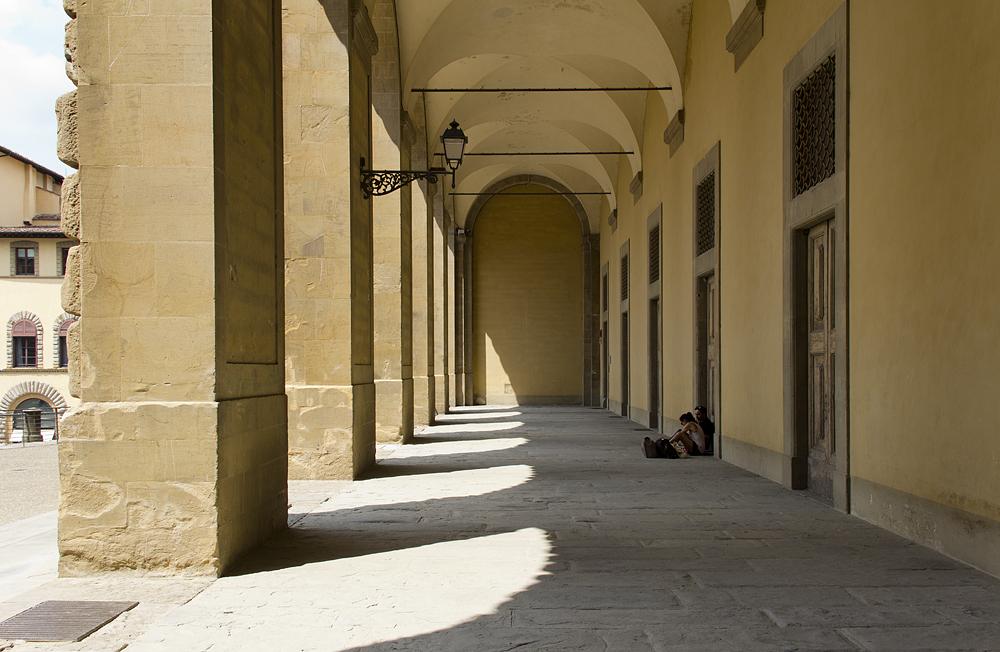 Firenze, Piazza Pitti, Loggia