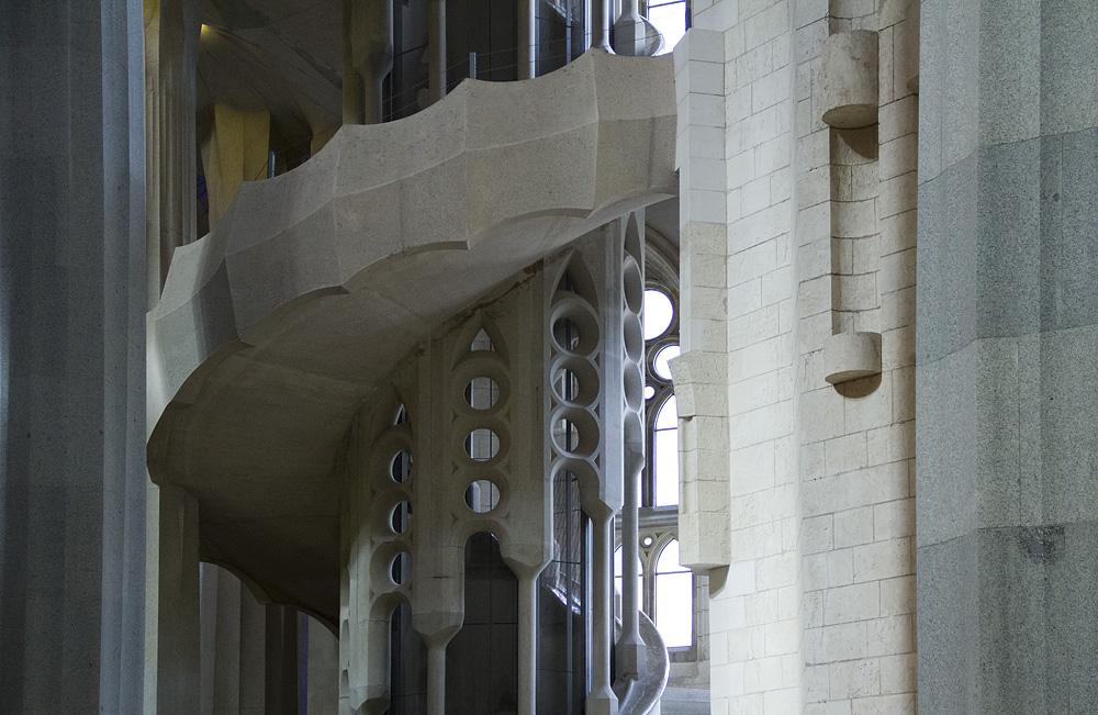 Barcelona, Sagrada Familia, Wendeltreppe