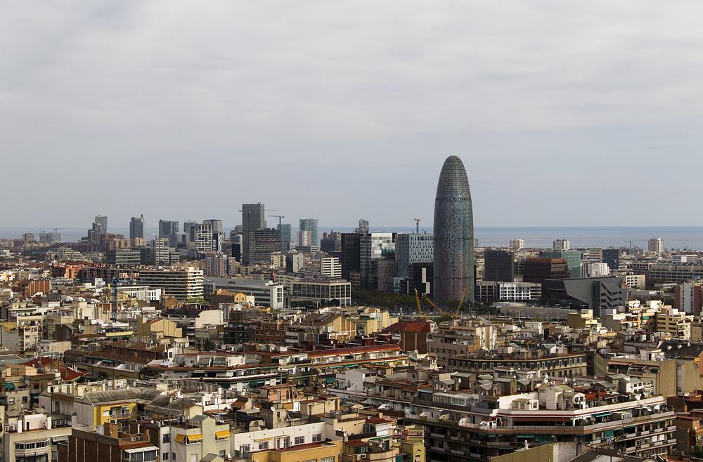 Barcelona, Sagrada Familia, Blick nach Südosten