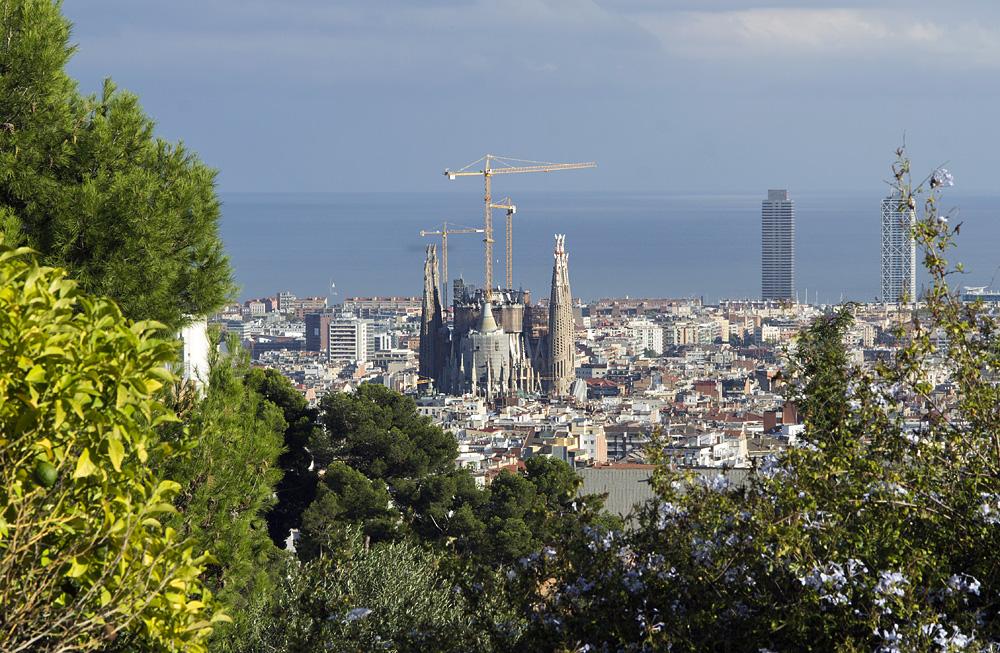 Barcelona, Sagrada Familia,Gaudi, Blick vom Park Güell
