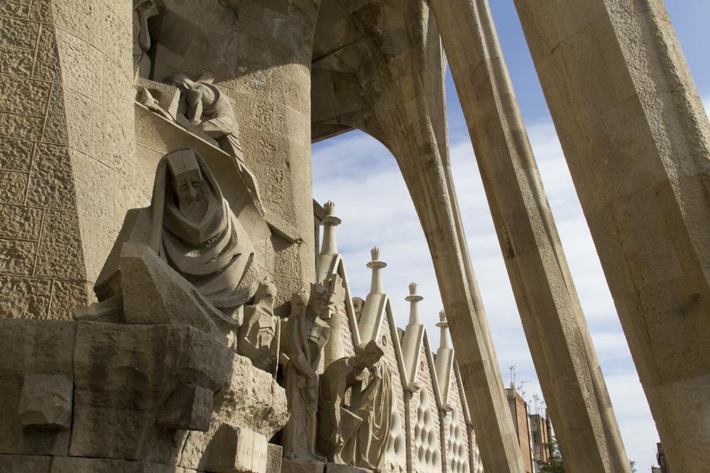 Barcelona, Sagrada Familia, Passionsfassade, Josep Maria Subirachs