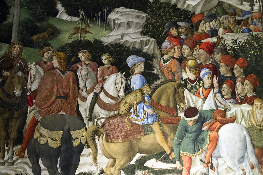Florenz, Palazzo Medici Riccardi, Dreikönigszug von Benozzo Gozzoli in der Kapelle