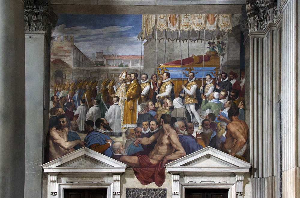 Florenz, San Marco, Fresko von Passignano in der Vorhalle der Garbkapelle des hl. Antonius