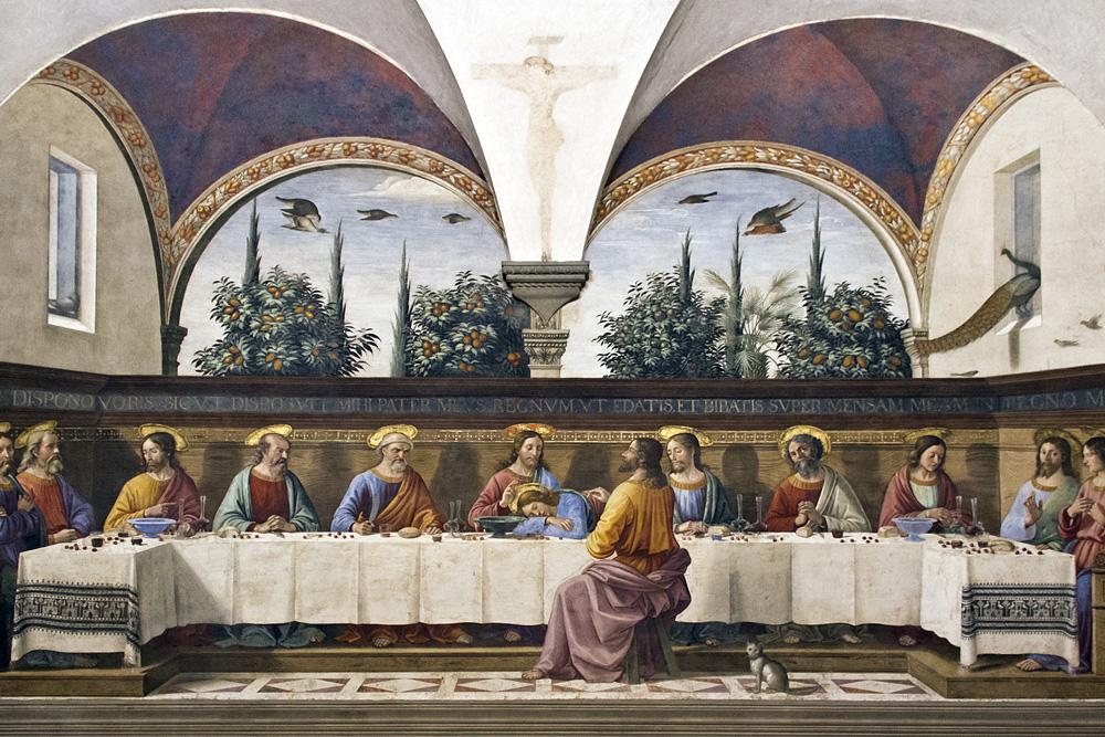 Florenz, San Marco, Letztes Abendmahl von Domenico Ghirlandaio