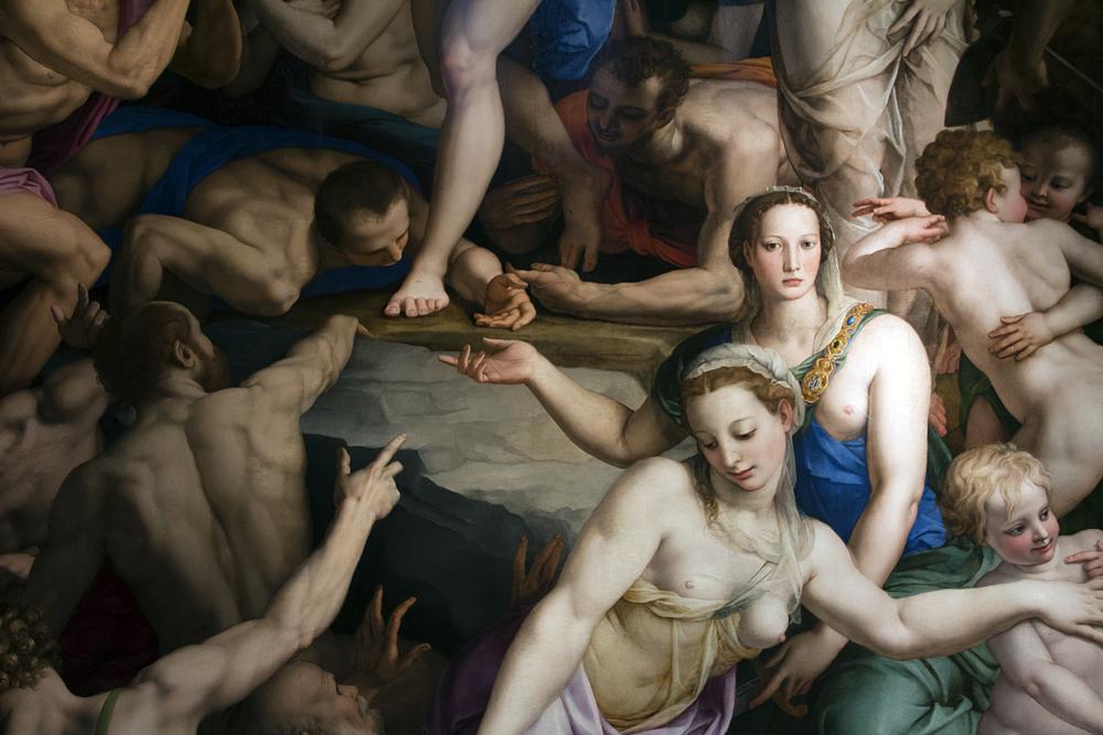 Florenz, Santa Croce, Bronzino, Christus in der Vorhölle, Capella della Noviziati