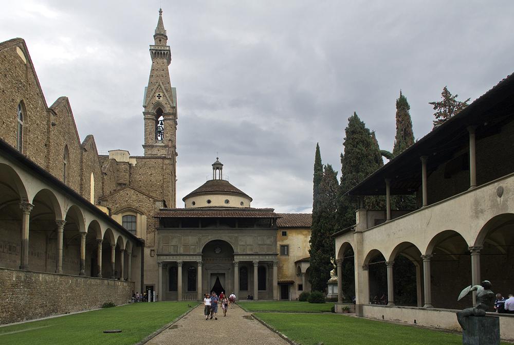 Florenz, Santa Croce, Capella de' Pazzi und Innenhof des Klosters