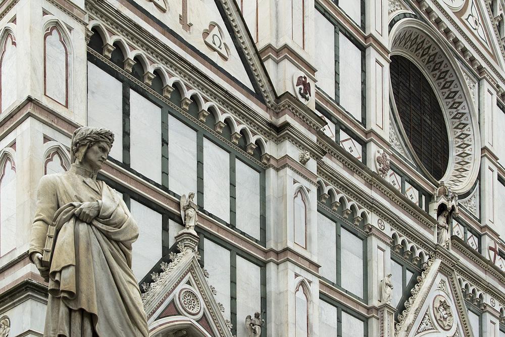 Florenz, Santa Croce, Dante, Enrico Pazzi
