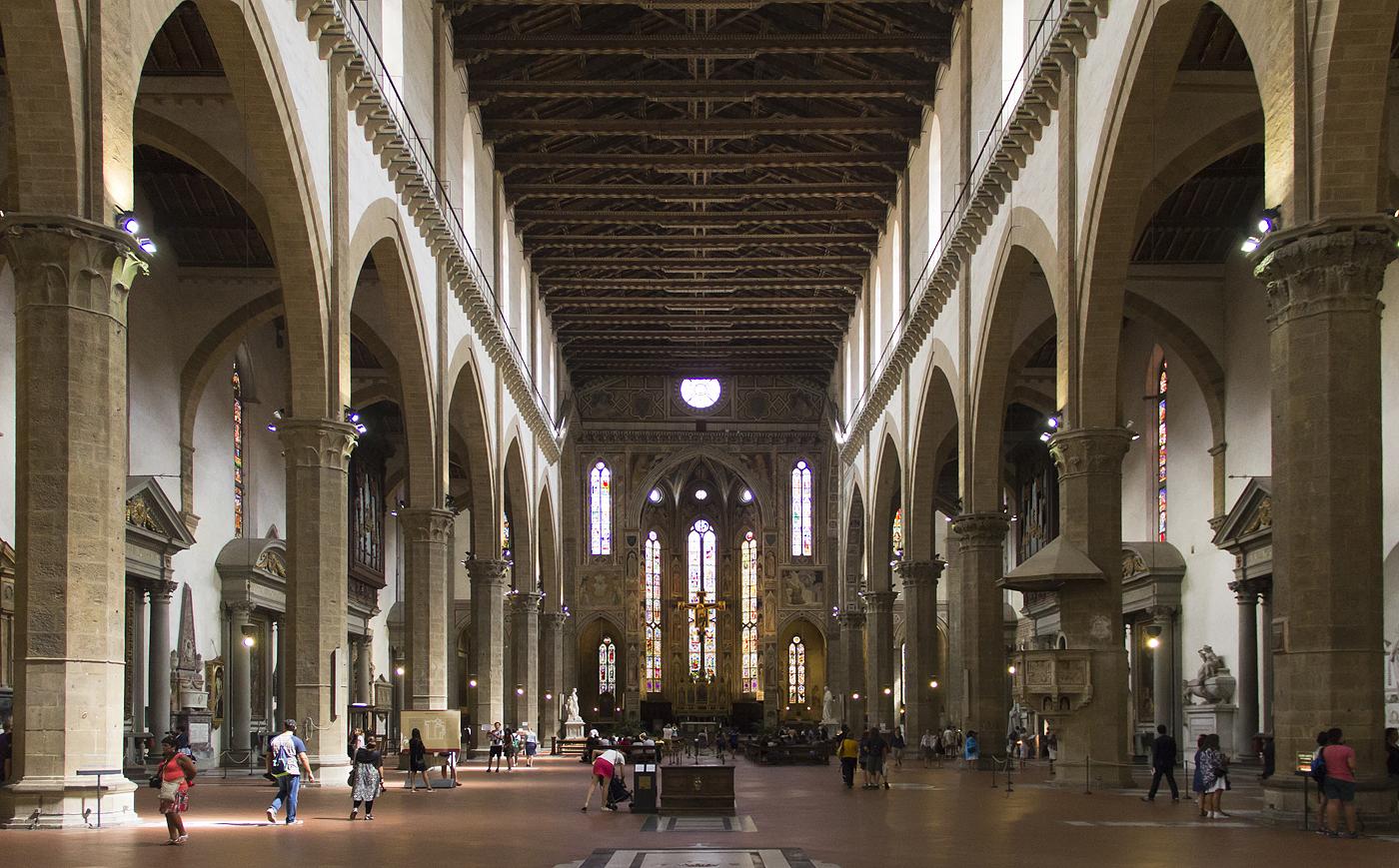 Florenz, Santa Croce Innenraum