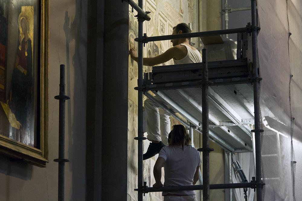 Firenze, Santa Maria Novella, Restaurierungsarbeiten