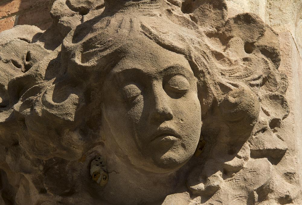 Barcelona, Hospital de la Santa Creu i Sant Pau, Gesicht