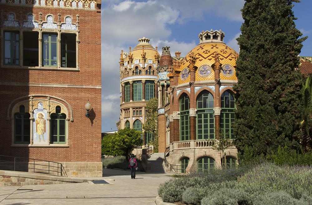 Barcelona, Hospital de la Santa Creu i Sant Pau, Pavellò de Sant Rafael und Pavellò de Sant Manuel